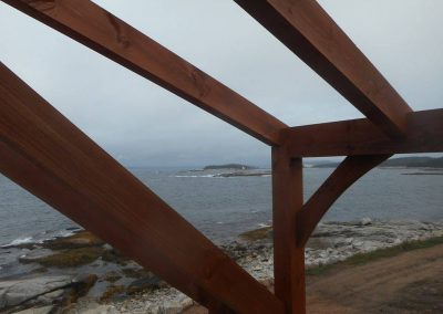 Detail of frame and view of the Bay