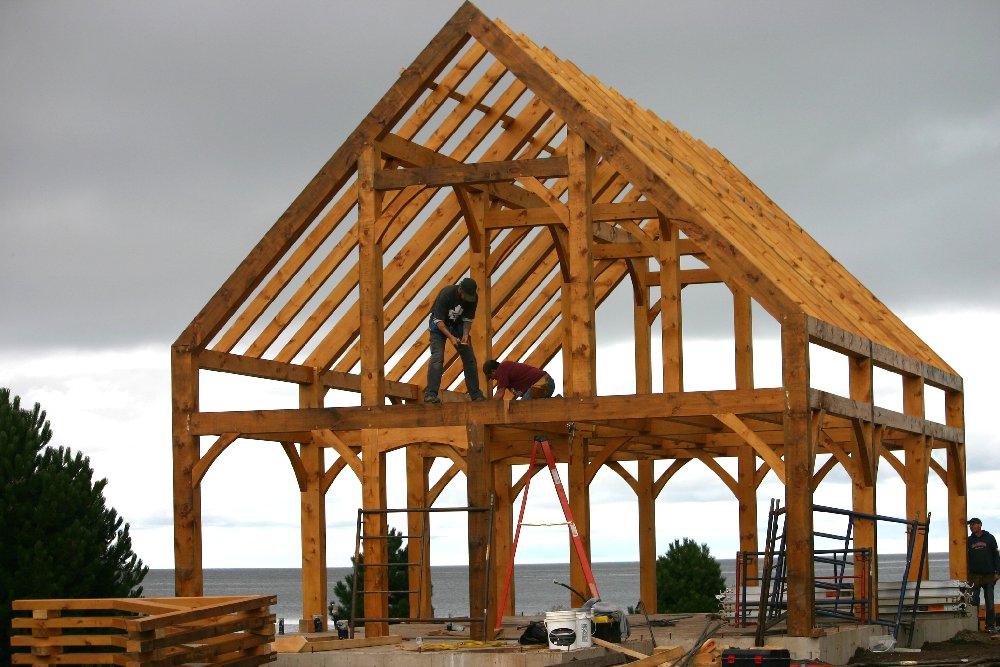 Timber Frame House near Bouctouche, New Brunswick