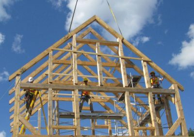 Finished timber frame