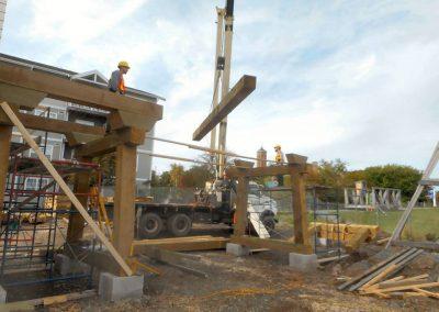 Craning heavy timber