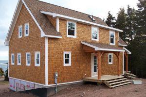 Finished house, shingled