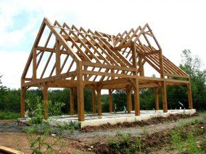 Links to high-resolution image of timberframe