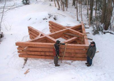 Garage Timber Frame in Antigonish Co.