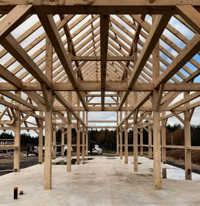 Timber frame for barn
